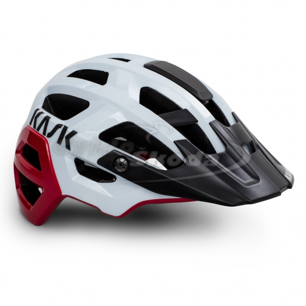 MTB helma Kask REX WHITE RED
