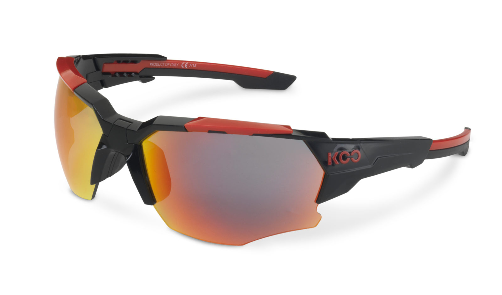 Brýle KOO ORION BLACK RED red mirror lenses