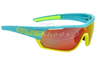 Brýle Salice 016 TURQUOISE YELLOW RW red