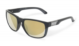 Brýle KOO CALIFORNIA BLACK ANTHRACITE gold mirror lenses