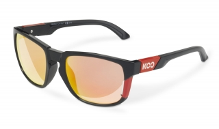Brýle KOO CALIFORNIA BLACK RED red mirror lenses