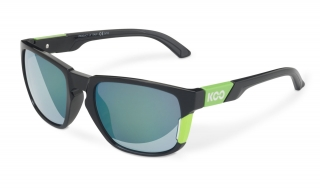 Brýle KOO CALIFORNIA BLACK LIME deep green lenses